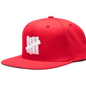 5 Strike Snapback – Red