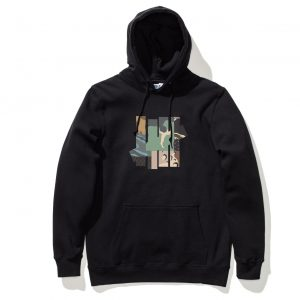Patchwork Hood – Black